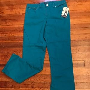NWT Straight Leg Bright Blue Colored Jeans